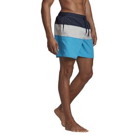 adidas Colourblock SL Shorts Men, legend ink/grey two/shock cyan